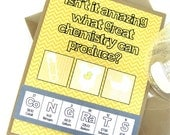 Chemistry Periodic Table Congrats Baby Card Yellow