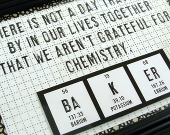 Personalized Chemistry Sign Periodic Table Wedding or Anniversary - Romancing the Geek