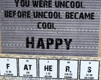 Father's Day Chemistry Card - Big Ole Geek Dark Gray