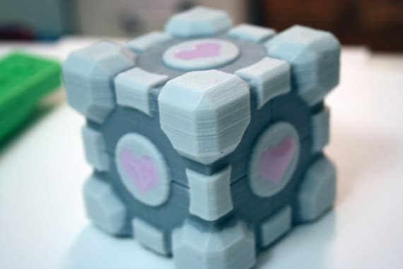 Companion Cube Portal Soap for Gamers, 7-Up Pound Cake Scent by Geek and Gamer Soap Inventor DigitalSoaps