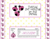 Ladybug Party - Printable Birthday Candy Wrapper - Pursenality Designs