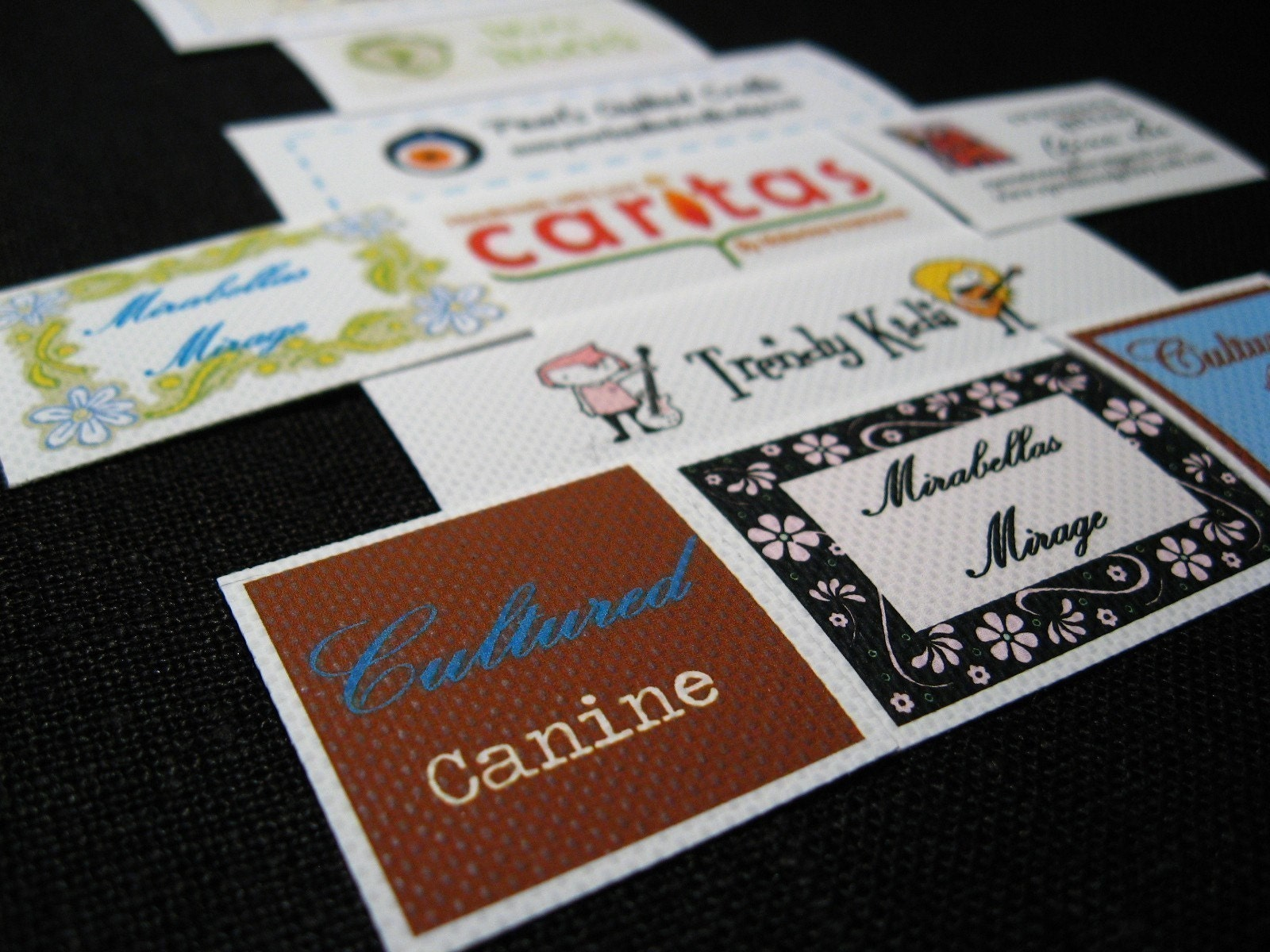 iron on or sew on polyester satin fabric labels 4 sheets. Black Bedroom Furniture Sets. Home Design Ideas