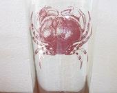 2 Pint Glasses Crab