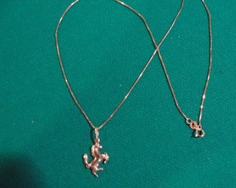 Reduced  twice  14K gold  Horse Necklace