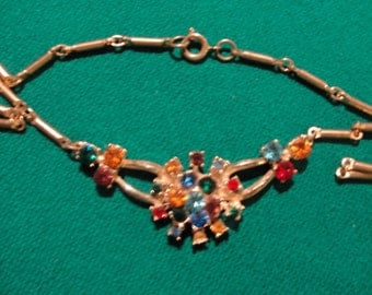 Vintage rhinestone coro necklace