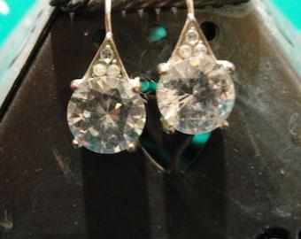 rhinestone cubic zirconia earrings