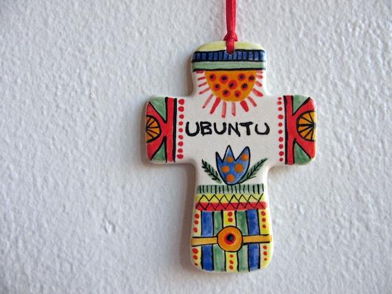 Ubuntu Hanging Cross Ornament
