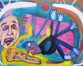 Spider Web Outsider Art Brut RAW Visionary Naive Elisa