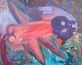 Harpie Outsider Art Brut RAW Visionary Naive Primitive Elisa