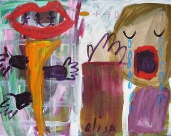 Cry Baby Outsider Art Brut RAW Visionary Naive Elisa