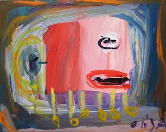 Walking Head Art Brut RAW Outsider Visionary Naive Primitive Elisa
