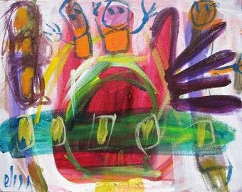Aliens Pug Poop Outsider Art Brut RAW Visionary Naive Primitive Elisa