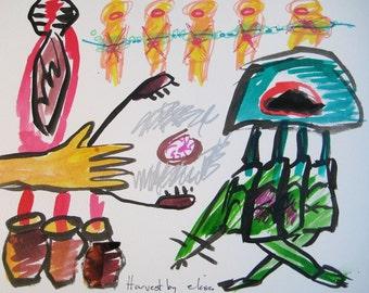 Harvest Outsider Art Brut RAW Visionary Naive Elisa