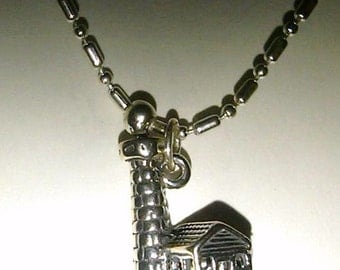 SS light house on a 16 1/2 inch sp chain