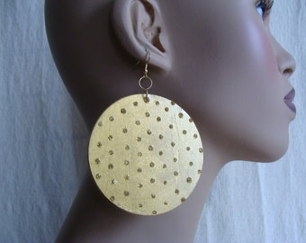 Large Dotted Swiss earrings