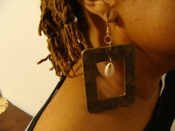 Square Camouflage Earrings