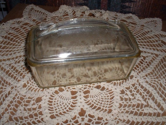 Vintage Westinghouse Glass Bread Refrigerator Bread Loaf Pan