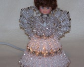 Bead and Safety Pin Lighted Angel