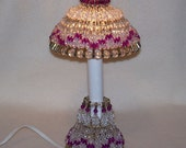 Bead and Safety Pin Victorian Lamp