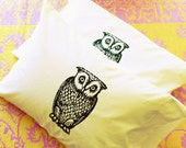 Owl Pillowcase Set Dorm Room Decor Yellow Bedding