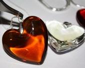 Murano Glass Heart From Venus and Chain