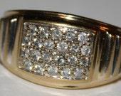 SOLD Estate Diamond Ring 10k yellow Gold Ring