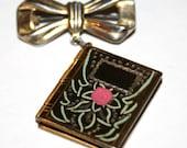 Vintage Photo Locket/Pendant/Pin Sterling Silver 1940s Circa