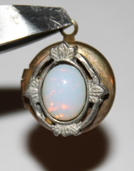 Vintage Opal Lockets/Pendants/Charms (2)
