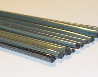 Tarnished Brass - Handmade / Handmixed / Handpulled Silvered Stringers - 104 coe Glass - Katie Gee - SRA
