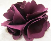 Large Plum Flower Hair Clip - Adult