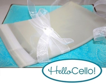 50 2.75 x 3.75 Clear Resealable Cello Bag Envelopes for ACEO, Business Cards, Jewelry, and more