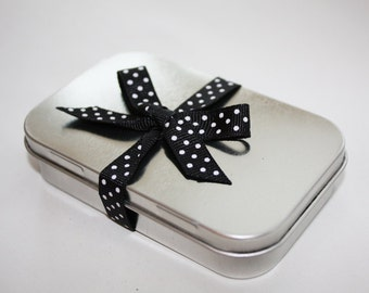 20 Rectangle Hinged Tins - 3 oz Silver Gift and Favor Tins