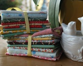 Fabric Stash Sale--2 Bundles of 9 Fat Quarters in Lovely, Lovely Prints