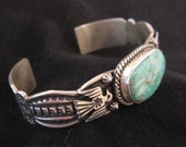 Big Turquoise Native American Bracelet