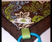 SUMMER SALE - Blue & Green Floral Loviedovie - Super Soft Mini Security Blanket