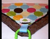 SUMMER SALE - Color Jumble Loviedovie - Super Soft Mini Security Blanket