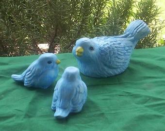 BLUE BIRD Family STATUE