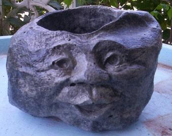 Concrete GARDEN ROCK FACE Planter or Pot