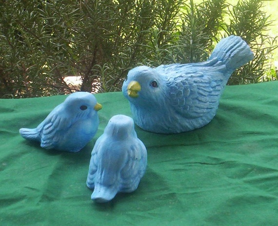 BLUE BIRD Family STATUE
