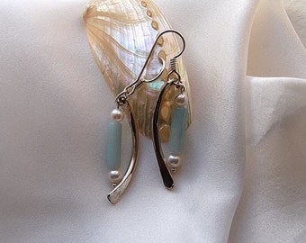 Chalcedony earrings