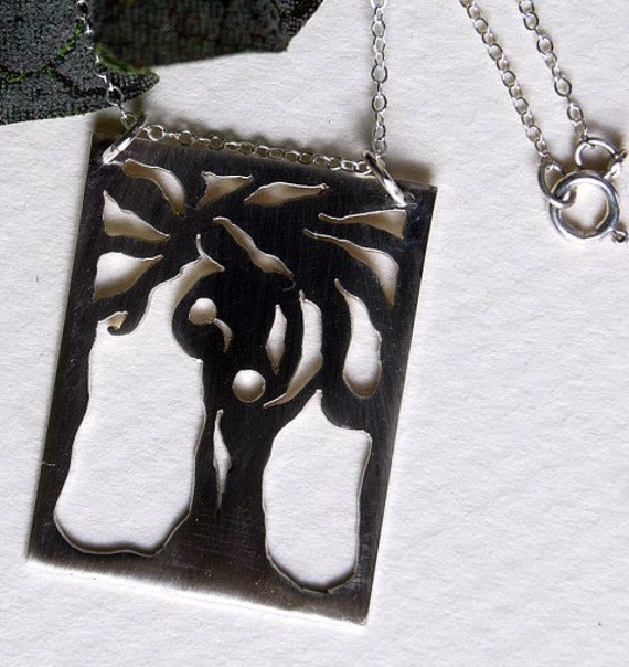 Tree of Life Pendant Sterling Mother and 2 Children Necklace Birth Mother's Day gift Baby Shower Gift Jewelry