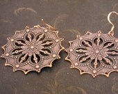 Copper Snowflakes earrings