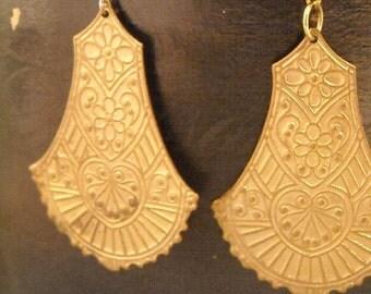Egyptian Fan gold earrings