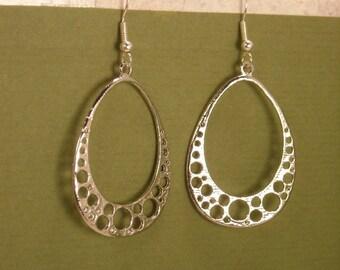 Hoop Earrings   Silver bubble hoop earrings