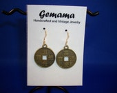 Chinese coin replica earrings 2