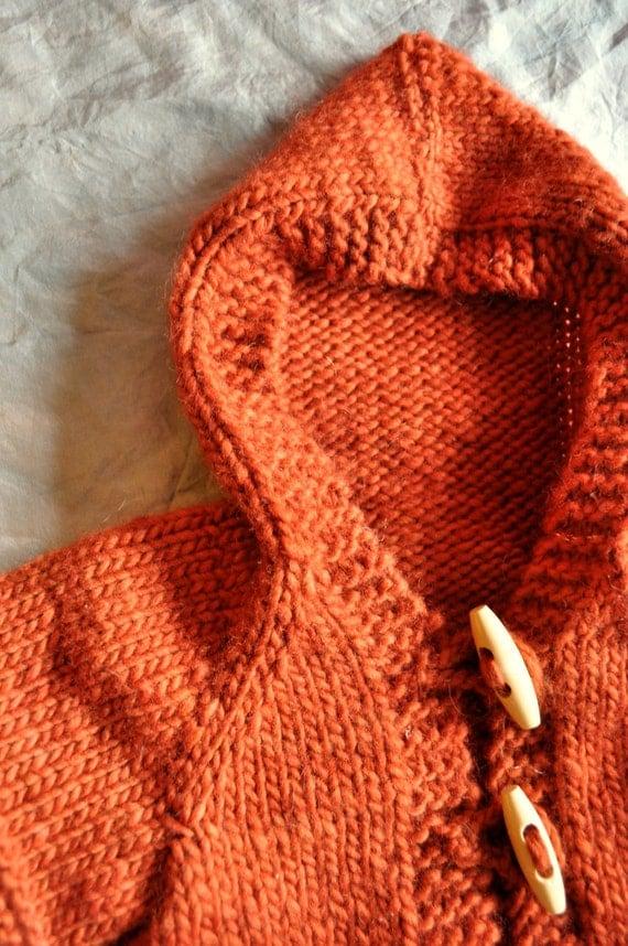 Knitting Pattern Cardigan Hood : Knitting Pattern for Doll Cardigan with Hood Hazels
