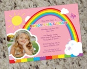 RAINBOW PARTY - Birthday Party Invitations - Printable Design