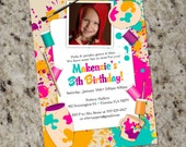 Paint Your Own Pottery Birthday Party Invitation - Printable Design - KID51