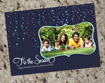 Holiday Photo Card - Icicle Lights - Print Your Own