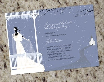 Warms the Heart - Winter Themed Bridal Shower Invitations - Print Your Own